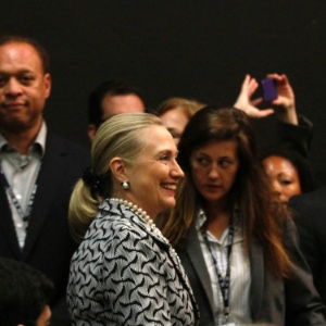 Hillary Clinton participa do último dia da Rio+20, representando o presidente dos EUA, Barack Obama