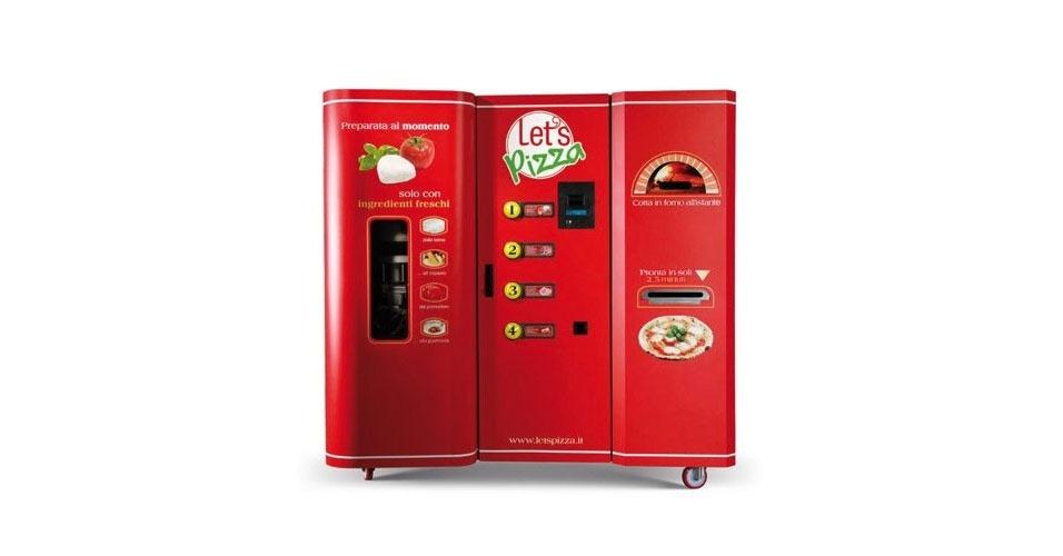 A máquina automática de pizza está chegandoooo