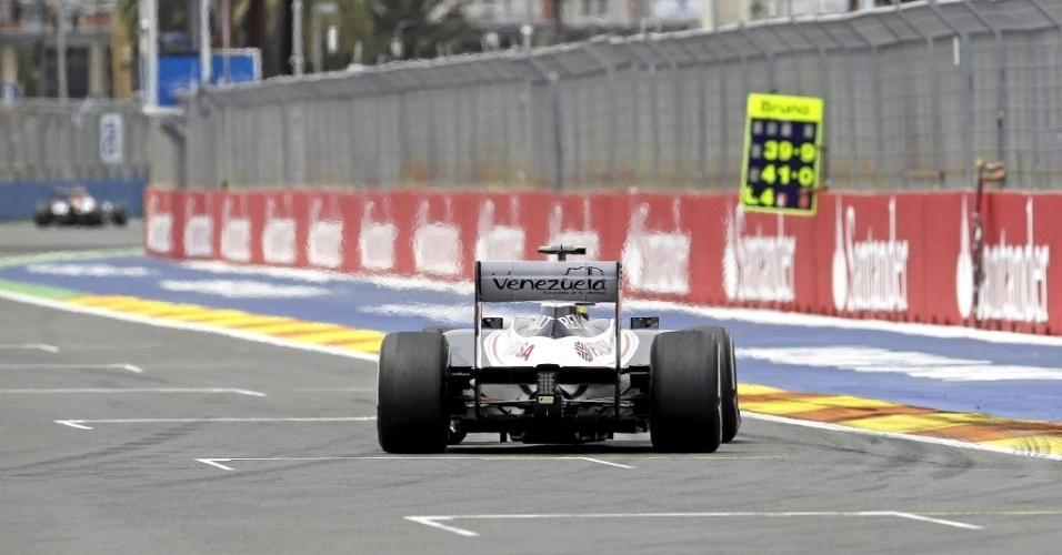 Bruno Senna, da Williams, terminou o dia com o quinto melhor tempo