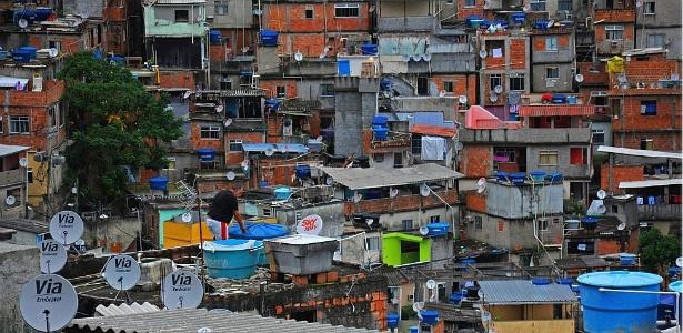 Vista da Favela da Rocinha, a maior do Rio de Janeiro