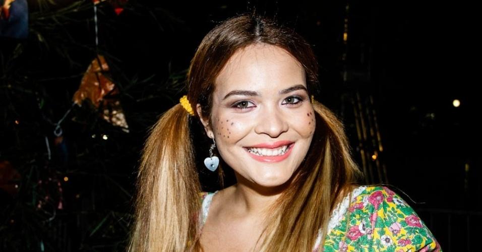 Geisy Arruda curtiu festa junina no Jockey Club, em São Paulo (22/6/12). A festa foi organizada pela Ong Florescer
