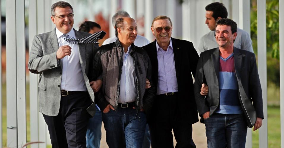 Mario Gobbi, Marco Polo Del Nero, José Maria Marin e Andres Sanchez estiveram no CT Joaquim Grava do Corinthians (22/06/2012)