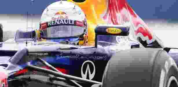 Vettel dominou boa parte do segundo treino livre para o GP da Europa - AFP PHOTO / JAVIER SORIANO