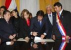 Chanceler paraguaio diz que país pode se reintegrar a blocos antes de abril de 2013 - Gustavo Segovia/AFP