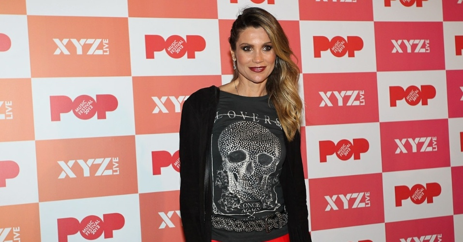 Flavia Alessandra no Pop Music Festival em São Paulo (23/6/12)