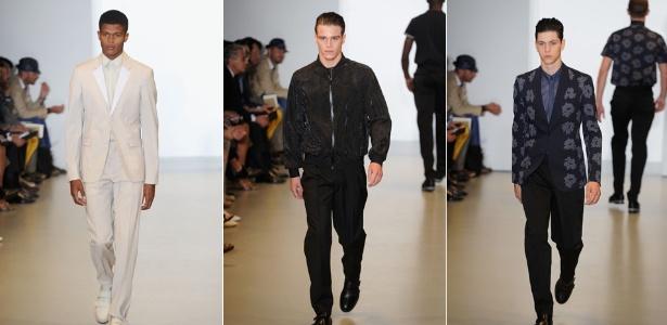 a20bc64f07127 A Calvin Klein levou à passarela da semana da moda masculina de Milão uma  coleção para