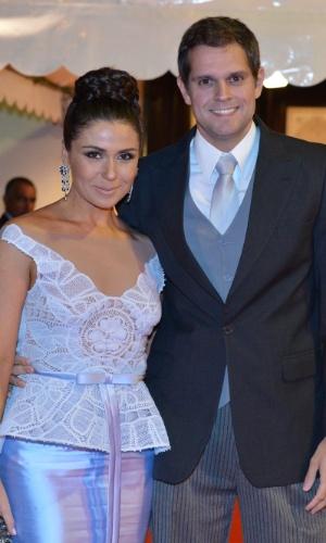 Giovanna Antonelli e o marido, Leonardo Nogueira, no casamento da atriz Luma Costa (23/6/12)