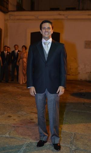 O noivo Leonardo Martins (23/6/12)