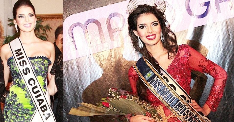 25.jun.2012 - Representante de Cuiabá, Leticia Hauch, derrotou 16 concorrentes e foi eleita Miss Mato Grosso Universo 2012 em evento neste final de semana na cidade de Sinop (MT). Ela tem 18 anos, 1,77 m de altura e 59 kg