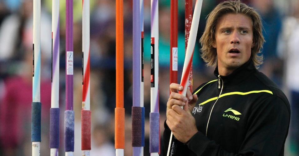 Andreas Thorkildsen, norueguês bicampeão olímpico de arremesso de dardo