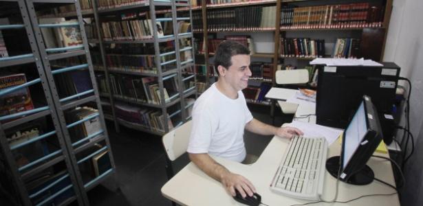 Biblioteca da Penitenciária Compacta de Serra Azul, no interior de São Paulo, a 50 km de Ribeirão Preto (SP)