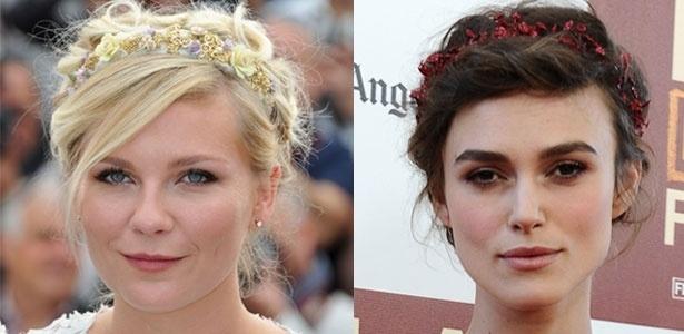 As atrizes Kirsten Dunst e Keira Knightley desfilam o acessório no tapete vermelho - Getty Images