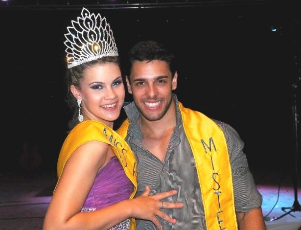 Miss Mundo Rondônia 2013, Patrícia Baebi, ao lado do Mister Rondônia 2013, Rafael Varela