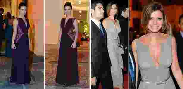 Sthefany Brito e Milena Toscano usaram o mesmo modelo de vestido no casamento de Luma Costa - Agnews e Foto Rio News