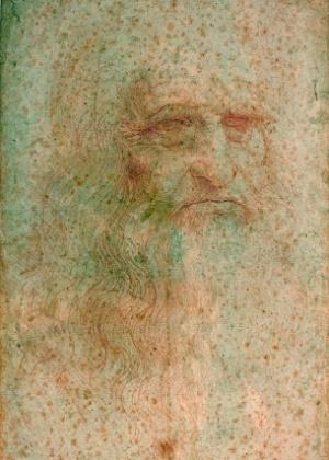 Leonardo da Vinci em imagem de retrato que está se deteriorando (26/6/12) - REUTERS/Handout