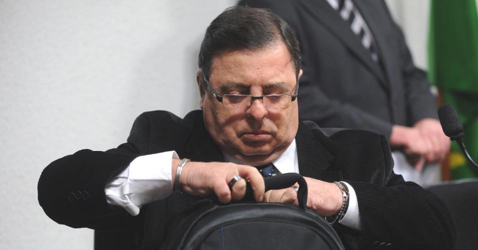 27.jun.2012 - Jornalista Luiz Carlos Bordoni, que acusa o governador de Goiás, Marconi Perillo (PSDB), de pagar gastos de campanha com dinheiro do bicheiro Carlinhos Cachoeira