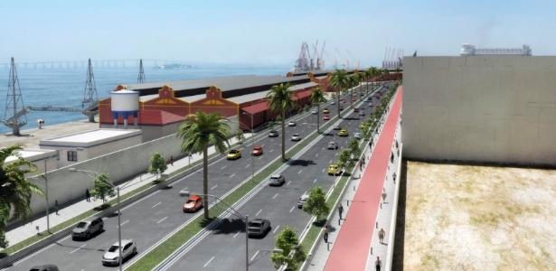 Imagem de projeto para revitalizar a zona portuária do Rio de Janeiro - Divulgação CDURP