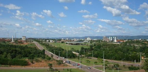 Vista de Palmas, capital do Tocantins, que terá eleições ao governo do estado neste domingo (3)