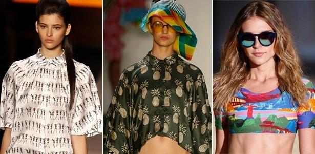Andrea Marques, Salinas e Blue Man trouxeram estampas figurativas para as passarelas do Fashion Rio - Alexandre Schneider/UOL
