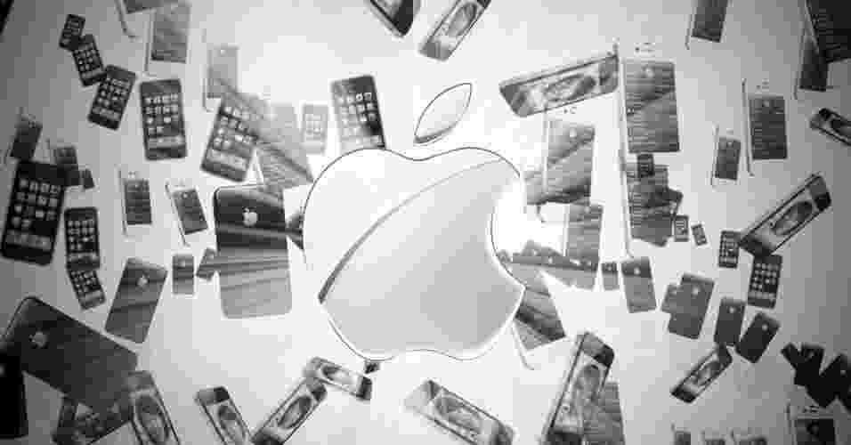 Evolução dos iPhones - Arte UOL