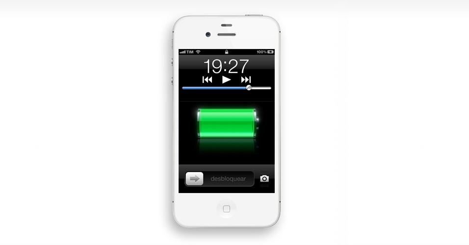 Saiba o nível da bateria. Para saber o percentual de bateria que ainda resta no iPhone, vá em Ajustes > Geral > Uso > Nível da bateria. A informação passa a aparecer ao lado do ícone de bateria na barra superior