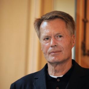 Jean-Marie Gustave Le Clézio, após anúncio do Nobel de Literatura (9/10/08) - AFP