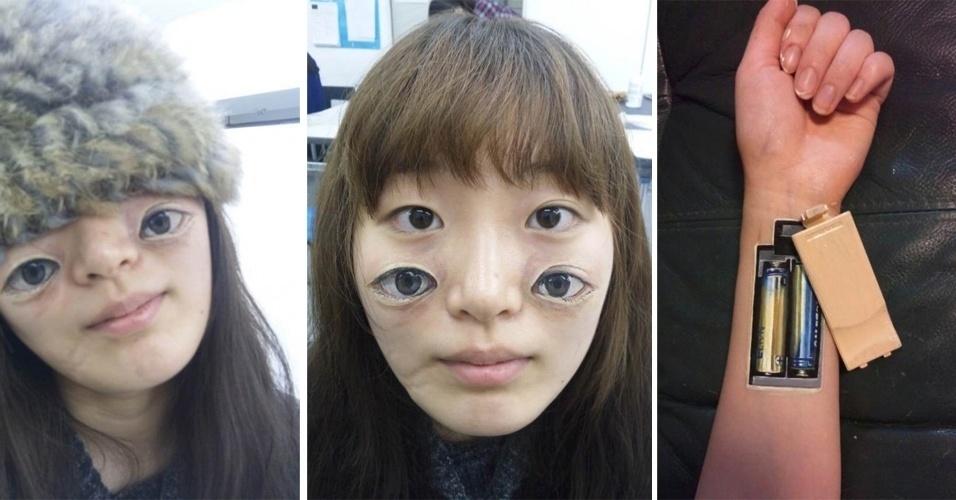 Parece, mas não é Photoshop... pelo menos é o que garante a artista japonesa Chooo-San. São pinturas no estilo ''body art'', feitas com tinta acrílica. Elas estão reunidas no Tumblr Monos e impressionam pelo efeito bizzarro (e estranhezam) que causam