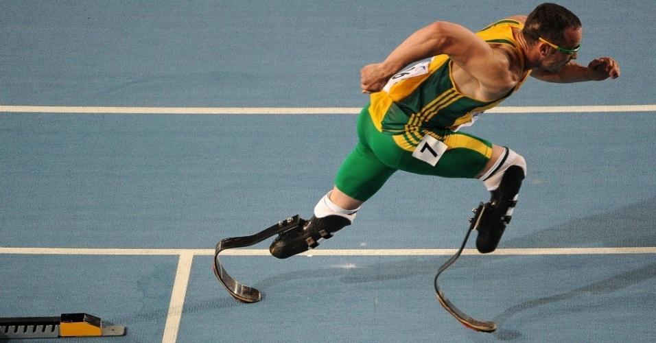Pistorius compete no Mundial de Atletismo de 2011