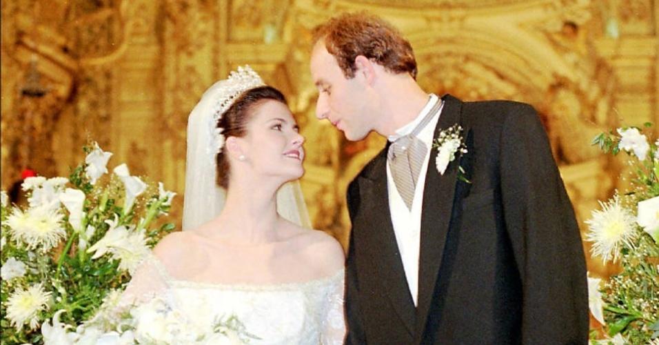 Casamento do jogador de vôlei Tande com a atriz Lizandra Souto, que também se separaram
