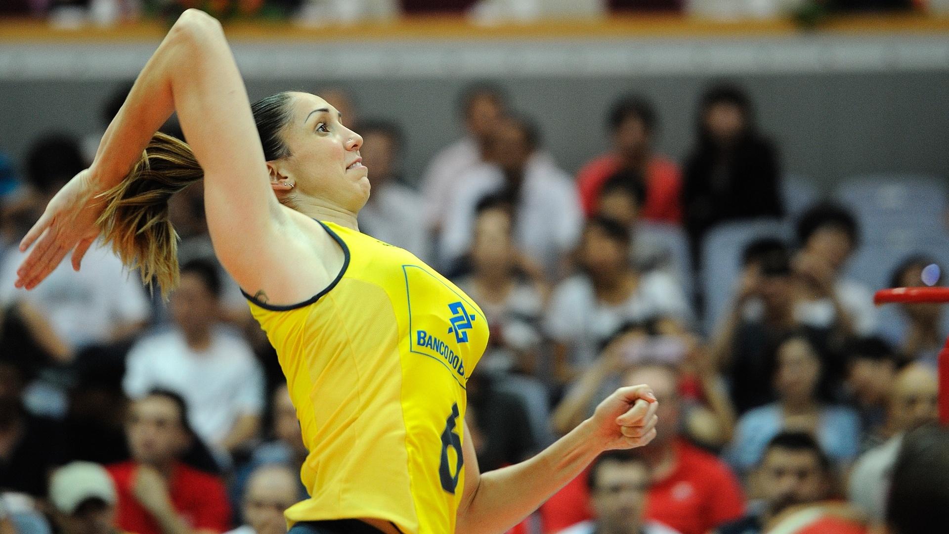 Thaisa foi o destaque do Brasil na vitória contra a Turquia pelo Grand Prix