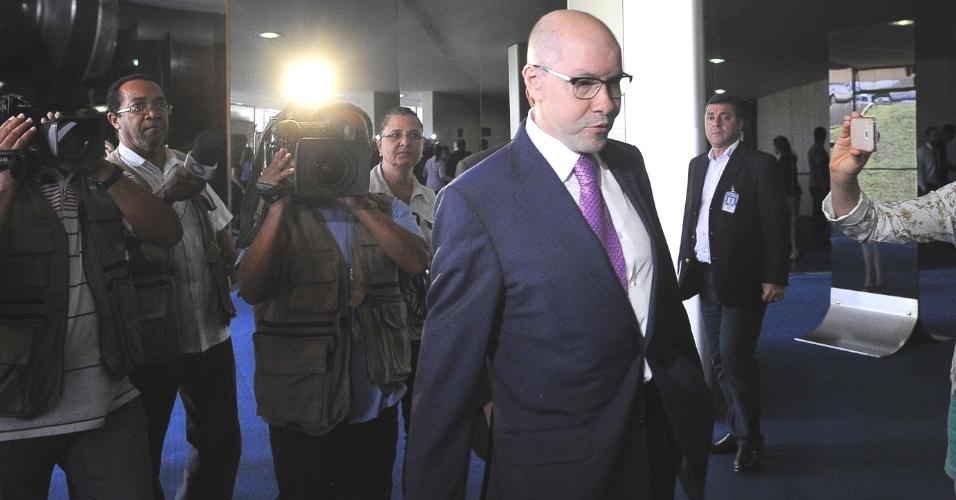 2.jul.2012 - Senador Demóstenes Torres (ex-DEM, sem partido-GO), cuja cassação foi aprovada pelo Conselho de Ética do Senado