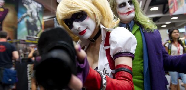 Fãs vestidos de personagens dos quadrinhos durante a Comic-con 2011 - Gregory Bull/AP