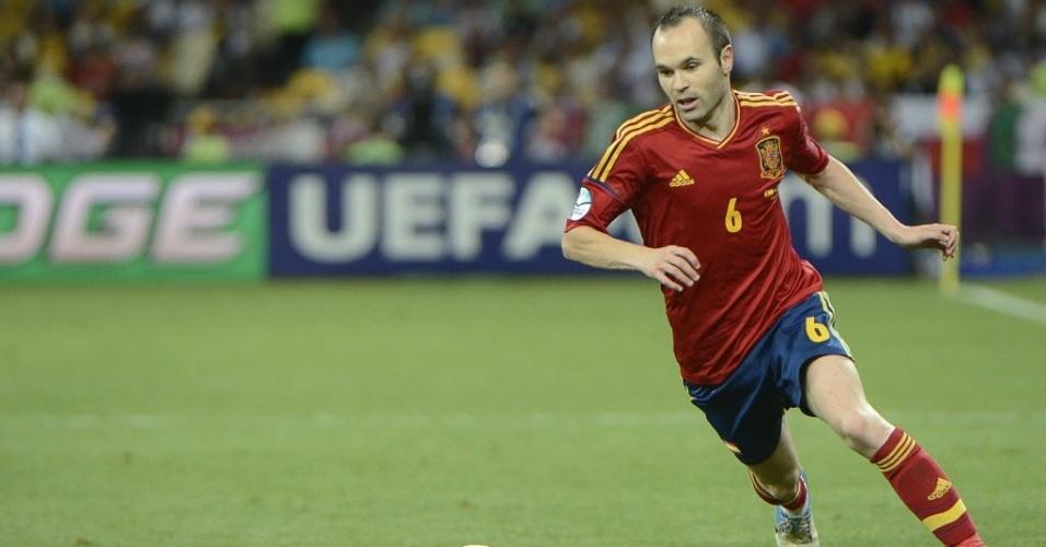 Iniesta, jogador da seleção espanhola, foi eleito o melhor jogador da Euro-2012