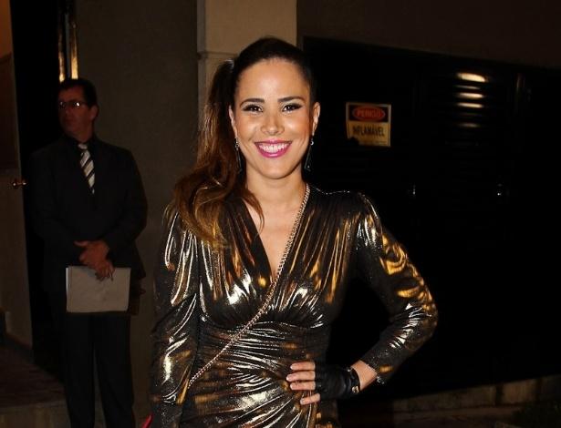 Seis meses após dar à luz José Marcus, fruto de seu relacionamento com Marcus Buaiz, a cantora Wanessa Camargo foi à festa de 35 anos da modelo e jornalista Luciana Cardoso (1/7/12)