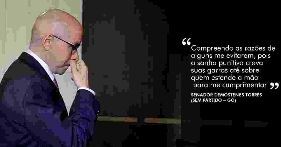 2.jul.2012 - Com uma série de discursos no Senado, Demóstenes tenta salvar seu mandato - 2.jul.2012 - Antônio Cruz/Agência Brasil