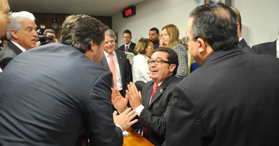 3.jul.2012 - O presidente da CPI do Cachoeira, senador Vital do Rego (PMDB-PB), encerrou a reunião da comissão, com a ausência das testemunhas marcadas para prestar depoimento hoje, e informou que todos serão reconvocados