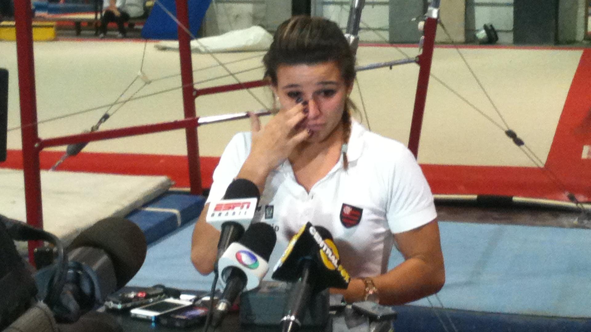 A ginasta brasileira Jade Barbosa, que foi cortada e está fora da Olimpíada