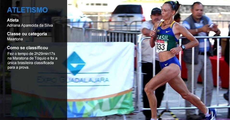 Adriana Aparecida, atletismo
