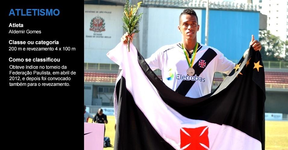 Aldemir Gomes, atletismo