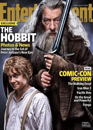 """Capa da edição de julho da revista """"Entertainment Weekly"""" com o longa """"The Hobbit"""""""
