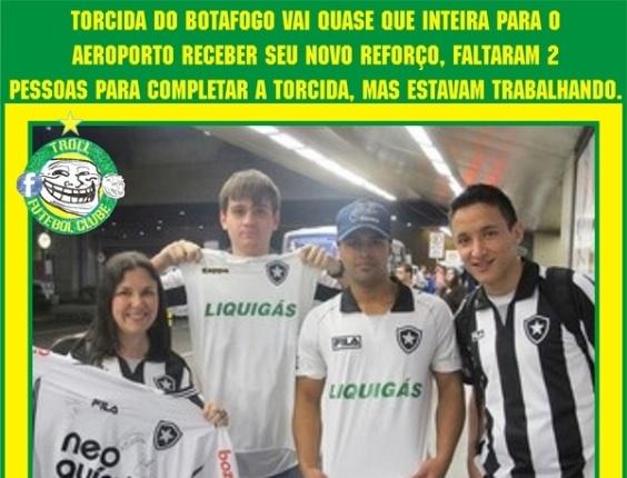Corneta FC: Torcida do Botafogo lota aeroporto para receber reforço