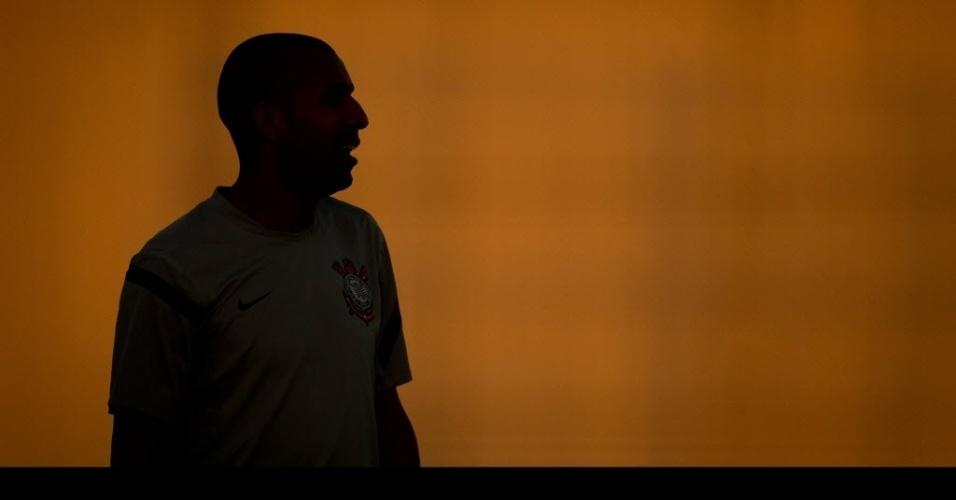 Emerson Sheik durante treinamento do Corinthians nesta terça-feira
