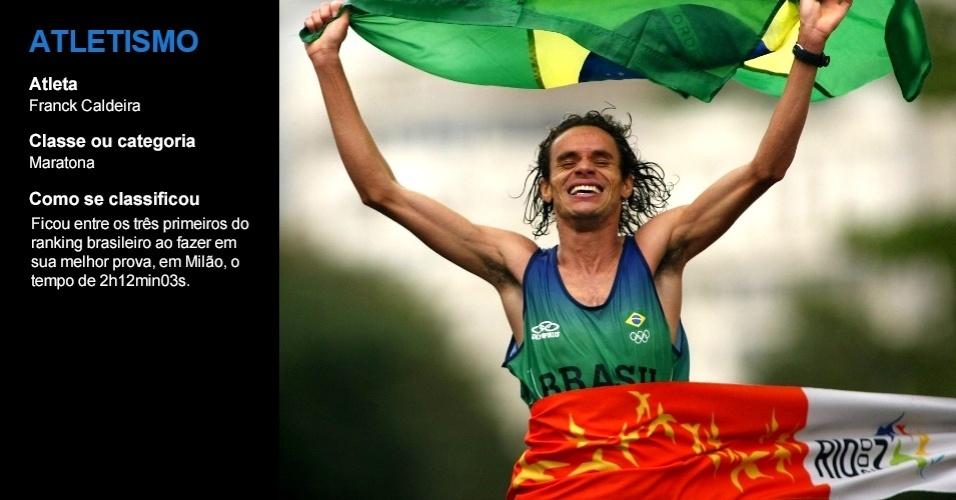 Franck Caldeira, atletismo