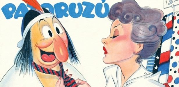 Imagem do personagem Patorzú, do quadrinista Dante Quinterno exposta no Museu do Humor argentino - Reprodução/MuseuDoHumor