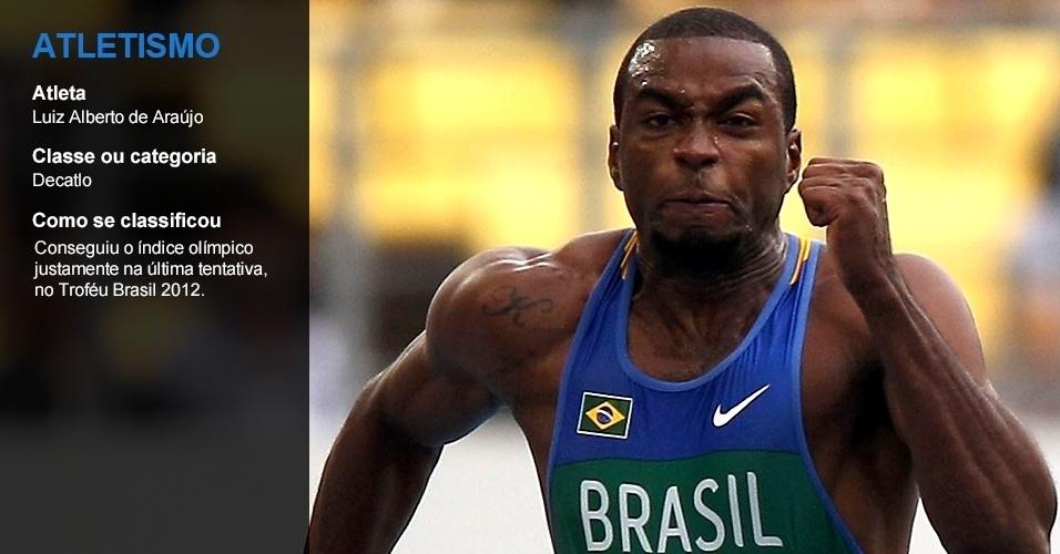 Luiz Alberto de Araújo, atletismo