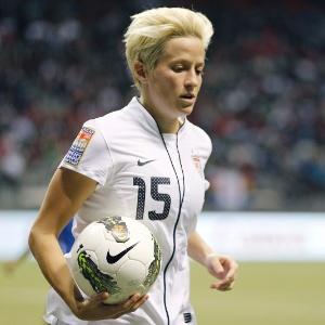 Rapinoe, jogadora da seleção norte-americana de futebol que assumiu homossexualidade publicamente
