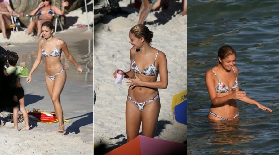 A atriz Sophie Charlotte curtiu a praia do Grumari, zona oeste do Rio, nesta quarta (4/7/12)
