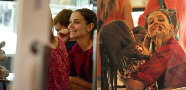 Após anunciar separação, Katie Holmes toma sorvete com a filha e se diverte (3/7/12)