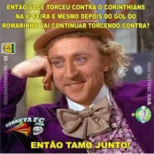 Então você torceu contra o Corinthians?