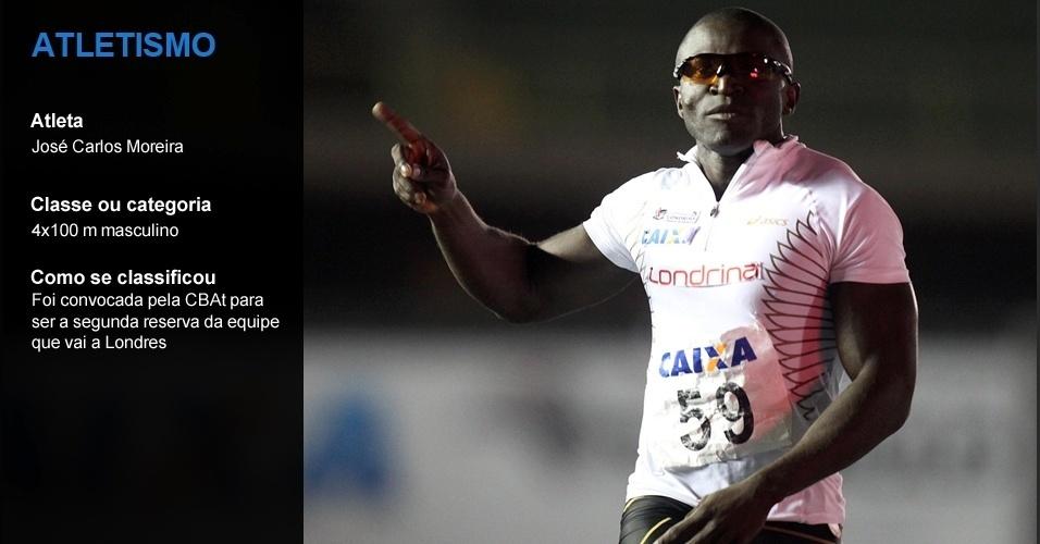 José Carlos Moreira, atletismo